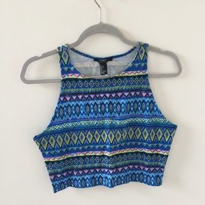 NWT Forever 21 Colorful Crop Top